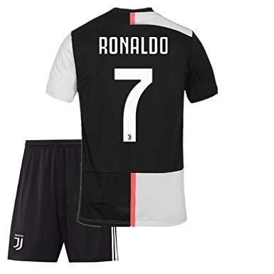 superior quality bdfd5 8ef41 GOLDEN FASHION Non Juventus Home KIT with Ronaldo Print 2019-20 Jersey with  Short