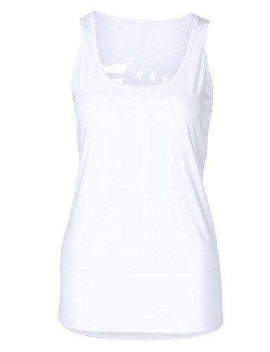 リーダーシップ弾薬モディッシュTootess 基本的なスタイルの女性の背部のノースリーブのレギュラーフィットティーシャツ