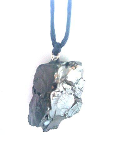 Karelia Shungite Pendant. EMF Protection Stone. Genuine Shungite Guarantee. (Circle)