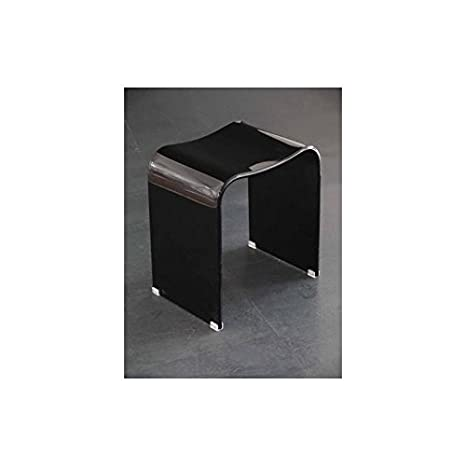 Duschhocker acryl  Duschhocker DWH 2 - schwarz: Amazon.de: Küche & Haushalt