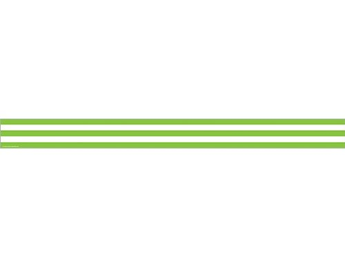 Teacher Created Resources Lime and White Stripes Straight Border Trim (5292)