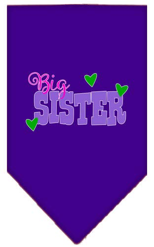 (Mirage Pet Products Big Sister Screen Print Bandana Purple Small)
