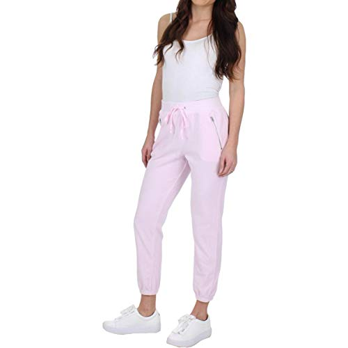 Juicy Couture Black Label Womens Silverlake Velour Track Pants Pink M