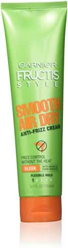 Garnier Fructis Style - Smooth Air Dry Anti-Frizz Cream - Flexible Hold (1) - With Argan Oil From Morocco - Net Wt. 5.1 FL OZ (150 mL) Per Tube - Pack of 3 Tubes