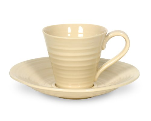 Sophie Conran by Portmeirion Espresso Cups and Saucers, Set of 2, Biscuit -