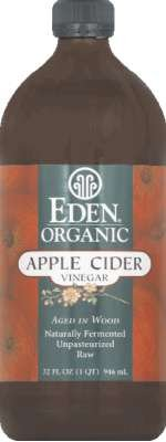 Organic Apple Cider Vinegar 32 Ounces (Case of 3) (Apple Cider Vinegar Eden)