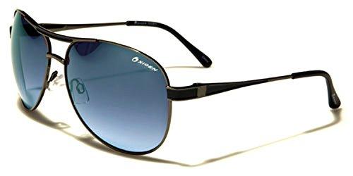 Oxigen - Lunettes de soleil - Homme Multicoloured Taille unique Gunmetal/black/blue lens