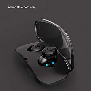 CamKpell Auriculares inalámbricos I8, Auriculares Bluetooth V4.2 Mini Auriculares Dobles con micrófono Incorporado en el Estuche de Carga, ...