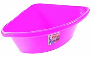 Fortiflex Corner Feeder for Dogs and Horses, 6-Gallon, Hot Pink