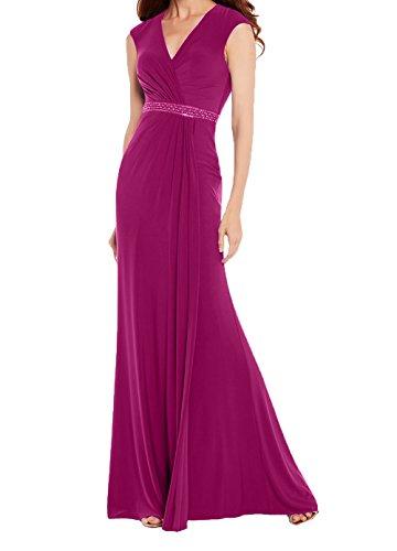 Chiffon Promkleider Lang Etuikleider Charmant Blau Festlichkleider Abendkleider Damen Abschlussballkleider Fuchsia Royal qwU6t