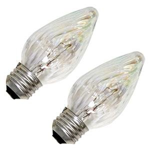 Sylvania 13821 - 25F/IC/BL/2PK 120V F15 Decor Flame Tip Light Bulb