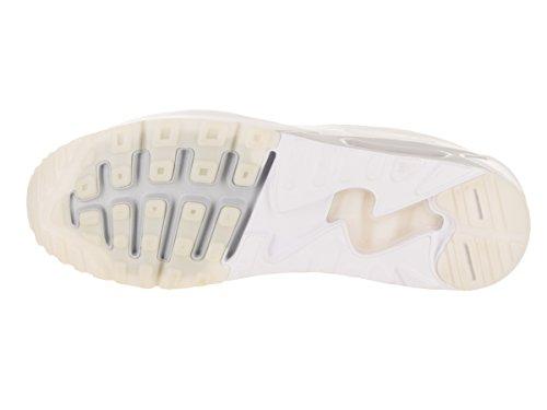 Nike Mens Air Max 90 Ultra 2.0 Flyknit Scarpa Da Corsa Bianco / Bianco Puro Platino