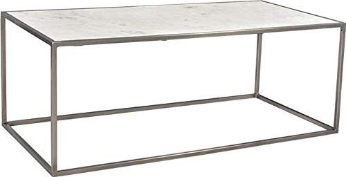 Coffee Table Dovetail Collier Antique Nickel Marble Iron New by Dovetail Furniture