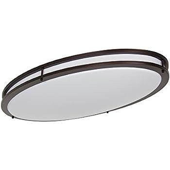 led flush mount ceiling light youtube fixture 26 watt lighting oval oil rubbed bronze inch equivalent