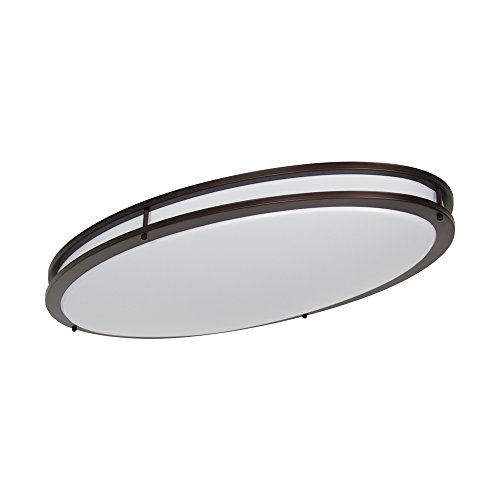 LB72135 LED Flush Mount Ceiling Lighting Oval, Oil Rubbed Bronze, 32-Inch, 35W, 200W Equivalent, 4000K Cool White, 2800 Lumens, ETL & DLC Listed, ENERGY STAR, - Bronze Lighting Flush