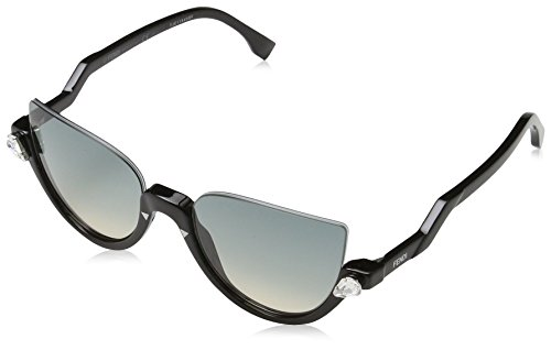 Fendi Women's Demi Crystal Sunglasses, Shiny Black/Brown, One - Optical Fendi Glasses