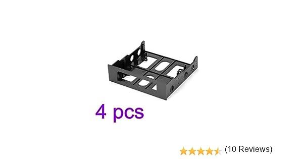 Winbang Soporte de Montaje de la Caja de la computadora del Compartimiento de la Unidad de 3,5 a 5,25 Pulgadas (4pcs ...