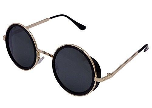 Dravin Retro-Stil runde Sonnenbrille nicht polarisiert klassischen UV350 Linsen Brillen