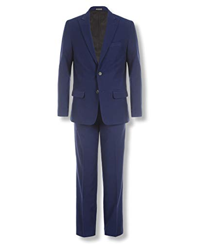 Calvin Klein Big Boys' 2-Piece Formal Suit Set, Infinity Blue, 16 ()