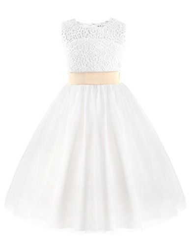 Amazon.com: FREEBILY Flower Girl Dress Kids Girls Pageant Wedding Bridesmaid Birthday Party Dress: Clothing