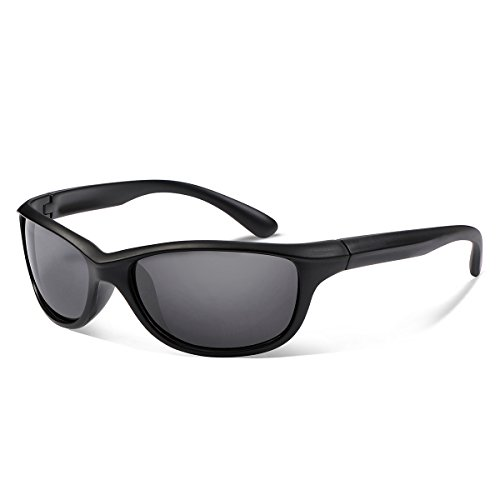 Occffy Polarized Sports Sunglasses For Men Cycling Running Fishing Golf Oc597 (black matte frame with black lens) For Sale