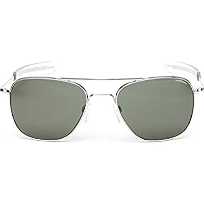 Randolph Aviator Bright Chrome Bayonet Temple AGX Non-Polarized Sunglasses