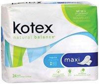 1300091 PT# 743989 Pad Sanitary Kotex Maximum Absorbency Winged 24/Pk Made by Kimberly Clark Professional