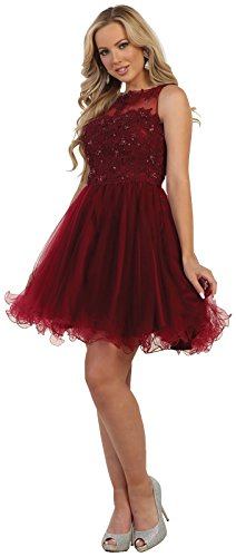 e7e21b3e0c May Queen Formal Dress Shops Inc FDS1429 Cute Short Homecoming Derss (16