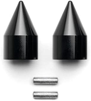 Krator Black Spike Bar Ends Hand Grip Handlebar End Caps For 1995-2012 Kawasaki Ninja ZX6R