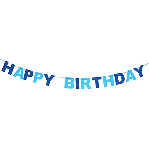 Happy Birthday Bunting Garland Banner Pennant Flags Party Home Hanging Decor