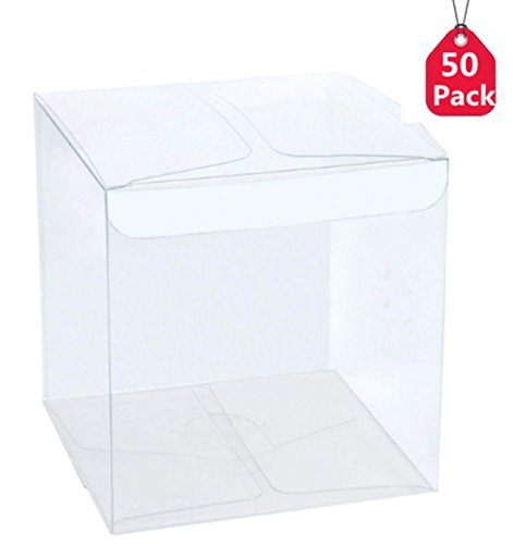 Christmas Candy Box (Pack of 50 Clear Candy Boxes Christmas Wedding Party Gift Box (50pack 2.36