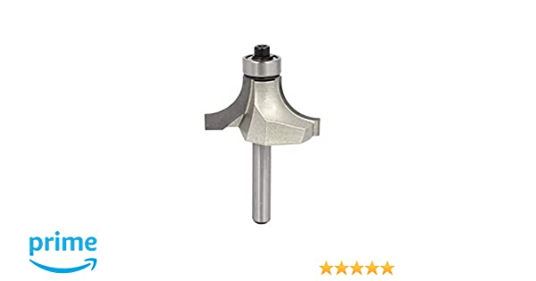 LDEXIN Double Flute Round Over Edging Forming Router Bit Woodworking Ball Bearing Bit 1//4 Shank 3//4 Cutting Dia 1//4 x 3//4