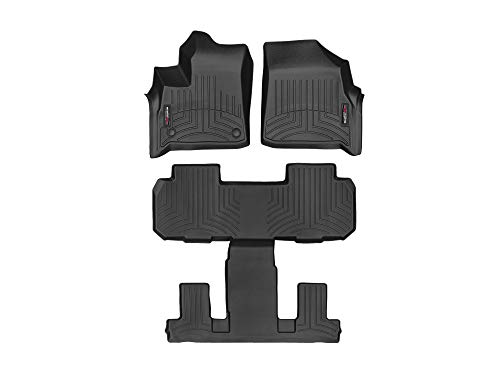 WeatherTech Custom Fit FloorLiner for Buick Enclave - 1st, 2nd, 3rd Row (Black) (Mats For Floor Weathertech Buick)