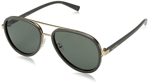Nautica Men's N4627sp Polarized Aviator Sunglasses, Grey, 57 - Nautica Sunglasses