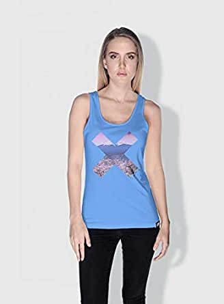 Creo Tokyo X City Love Tanks Tops For Women - S, Blue