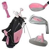 39 girls golf clubs - Golf Girl Junior Club Set for Kids Ages 8-12 RH w/Pink Stand Bag