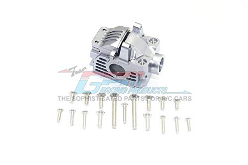 Traxxas Rustler 4X4 VXL (67076-4) Upgrade Parts Aluminum Front Gear Box -1 Set Gray Silver (Set Gearbox Front)