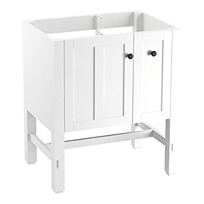 "KOHLER K-5289-1WA Tresham vanity, 30"", Linen White - Finishes resists moisture, scratches and stains One door and two drawers Three-way adjustable slow-close door hinges with 100-degree opening capability for easy cabinet access - bathroom-vanities, bathroom-fixtures-hardware, bathroom - 31Htr %2BGUxL. SS400  -"