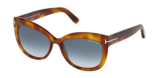 Sunglasses Tom Ford FT 0524 Alistair 53W blonde havana/gradient blue