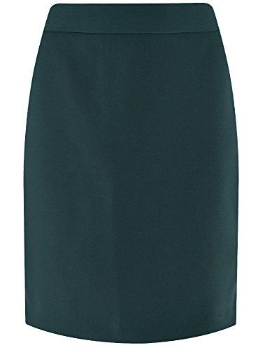 oodji Ultra Mujer Falda Recta con Cremalleras en Laterales Verde (6900N)