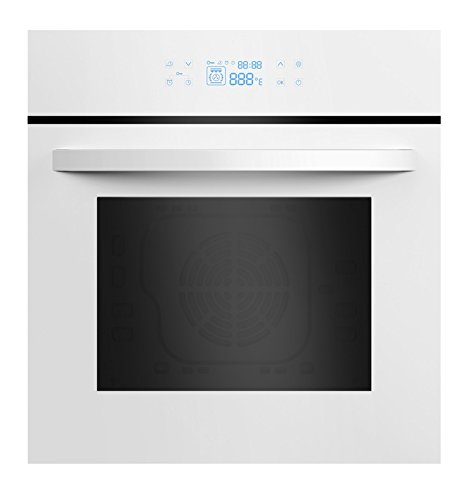Empava 24″ White Tempered Glass LED Digital Touch Controls Electric Built-In Single Wall Oven EMPV-24WOC12