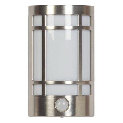 LED Auto Soft White Night Light, Motion-Activated, Brushed Steel