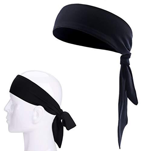 Tie Headband Hairband, Cotton Athletic Sport Tennis Sweatband Wristband Head Wrap for Running, Travel, Sports, Makeup, Yoga, Shower
