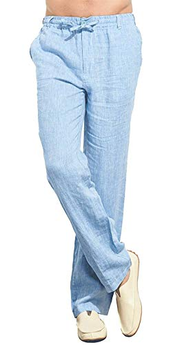 Da Unita Lino Sportivi Pantaloni Uomo Tasche In Tinta dunkelblau Coulisse Dritti Con 1 SMGLzVqpU