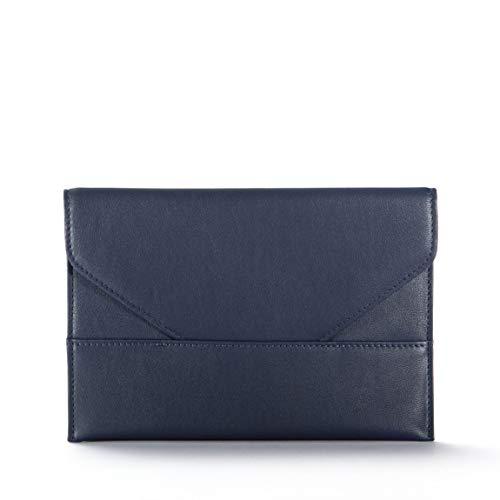 - Photo Envelope - Full Grain Leather - Navy (Blue)