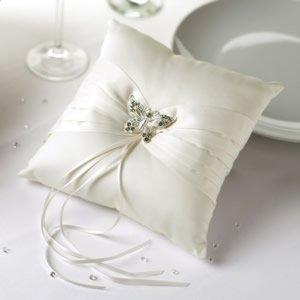 NEVETI - Cojín para anillos de boda, diseño de mariposa ...