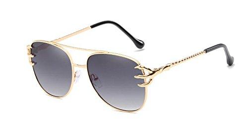 lunettes en inspirées Gradient soleil vintage métallique Lennon cercle style du rond polarisées Gris retro de tr4qwzr