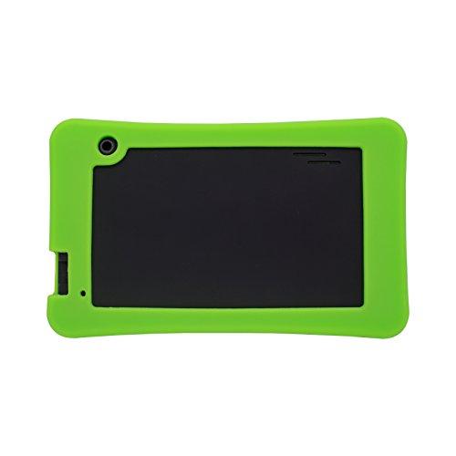 Transwon Silicone Case Compatible with RCA RCT66723W2 7 Inch, SmarTab ST7150, Yuntab T7, Haehne 7 Inches Tablet PC, DigiLand DL7006, Digiland DL721-RB / DL718M / Dl701q, iView SupraPad i700 - Green