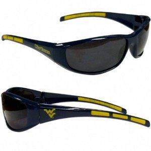 (NCAA Licensed Team Logo 3 Series Full Wrap Sunglasses - (100% UV Protection) (West Virginia Mountaineers))
