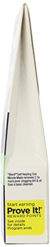 51WTGSNar6L Biore Self-Heating One Minute Mask, 4 Single Use Packs